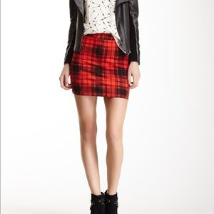 Eight Sixty Plaid Zip Up Skirt